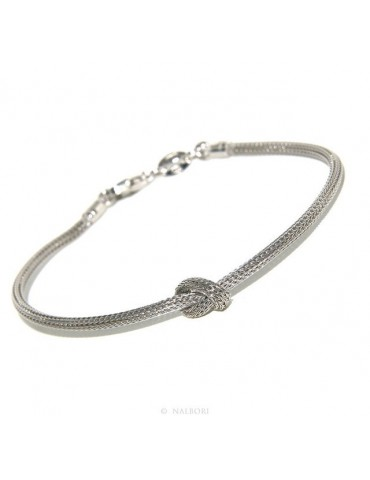 925: bracelet fox tail wire with simple knot for men and women from 15 to 20 cm