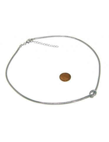 925: Necklace fox tail wire with simple knot for men and women Nalbori