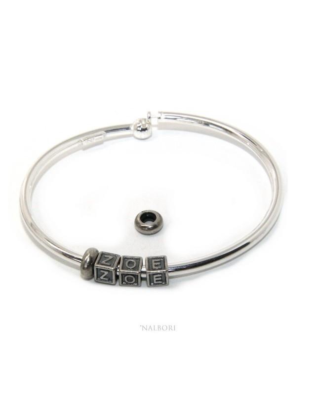 salvare 403ff 1232b bracciale ovale semi rigido semirigido charm charme charms beads zoe
