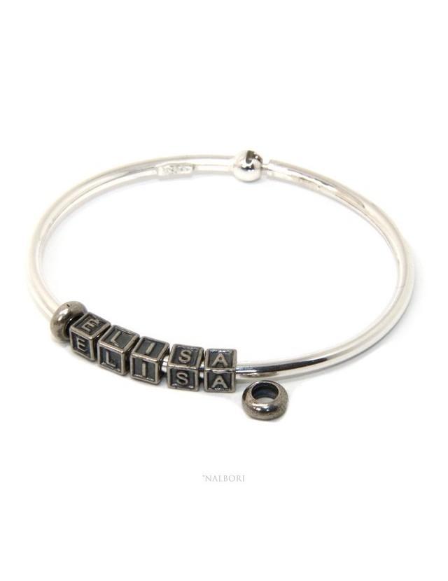 taglia 40 74ac4 4c9bd bracciale semi rigido semirigido charm charme charms elisa