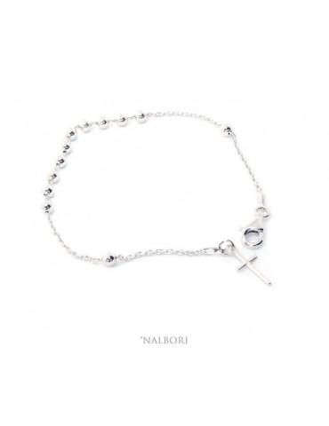 Rosary bracelet for men and...