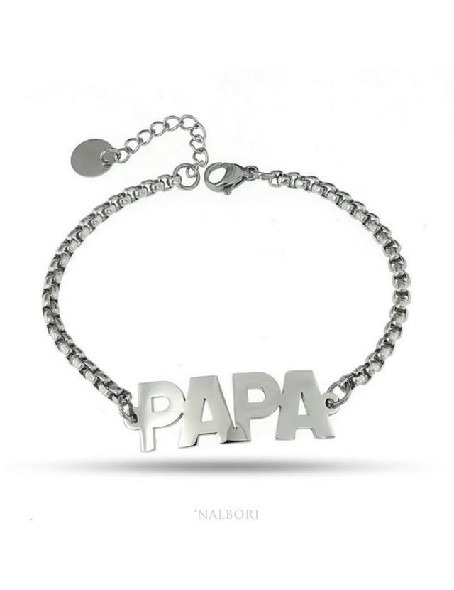 NALBORI woman bracelet anallergic steel pop corn sweater with plate PAPA '