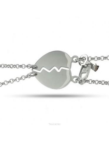 NALBORI double hypoallergenic steel bracelet he her heart key padlock