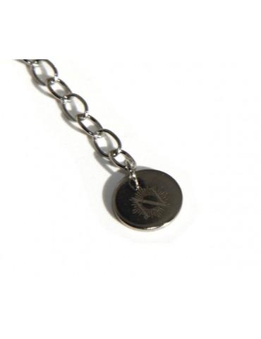 NALBORI anallergic steel bracelet rolo 'with big heart in the center