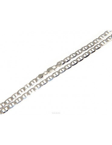 SILVER 925: Necklace or Bracelet man marine navy crosspiece 7 x 13 mm solid full diamond
