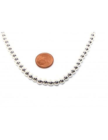 SILVER 925: Women's choker necklace 5mm ultra light balls