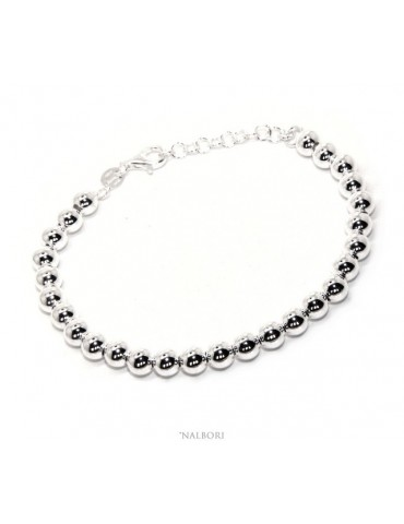 SILVER 925 Bracelet man woman balls 6 mm light