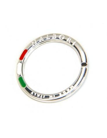 portachiavi ad anello argento massiccio nalbori