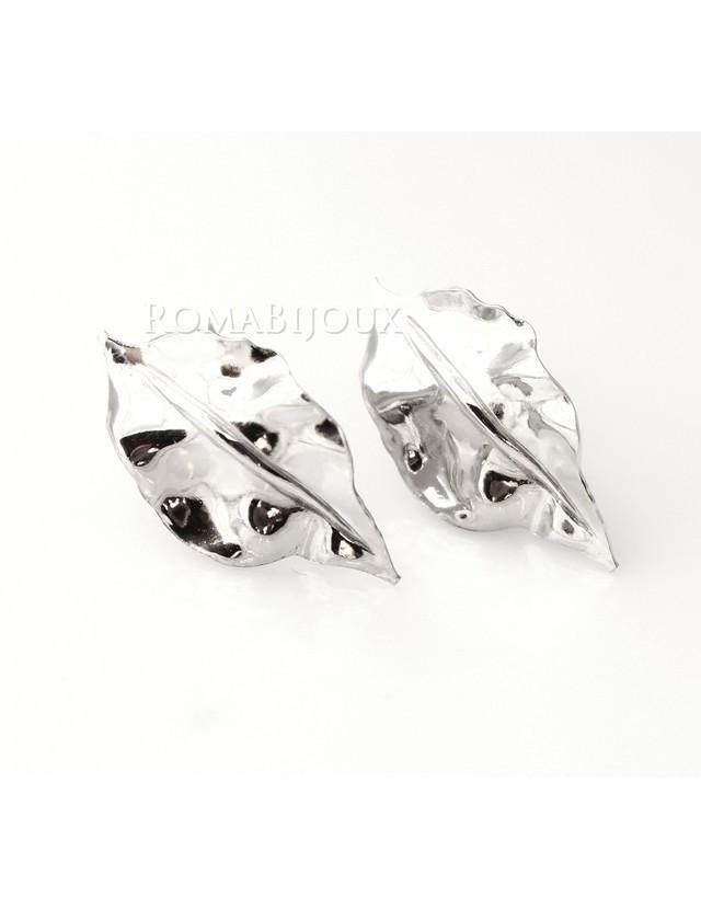 Gioielli donna in argento 925 realizzati in microfusione foglia oro