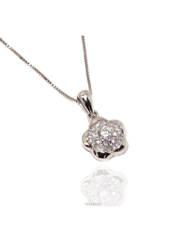Silver 925: Necklace Venetian woman necklace with NALBORI flower pendant