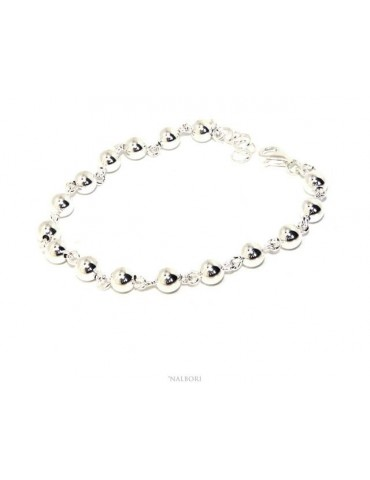 NALBORI bracelet silver 925 spheres 6 mm Marseillaise alternate