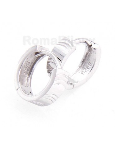 925: earrings massive cliquet man or woman diamond small 13 mm (one pair)