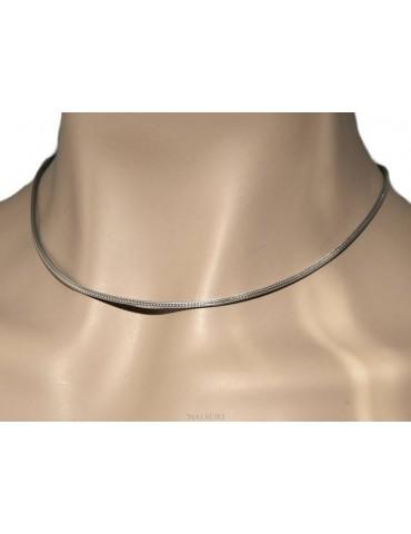 NALBORI fox tail necklace 925 sterling silver simple linear 43 + 5 cm man woman