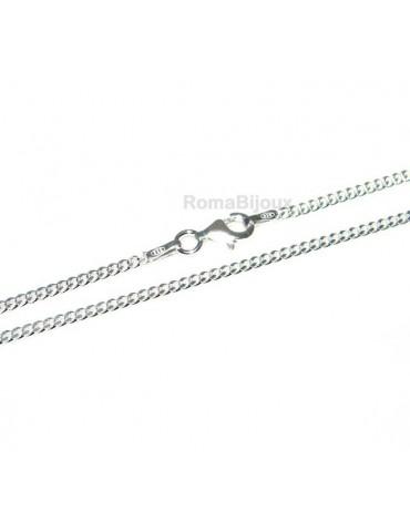 ARGENTO 925 : Girocollo collana o bracciale uomo donna grumetta 2,00 mm  chiara sbiancata