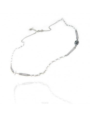 Rosary Necklace 925 Silver...