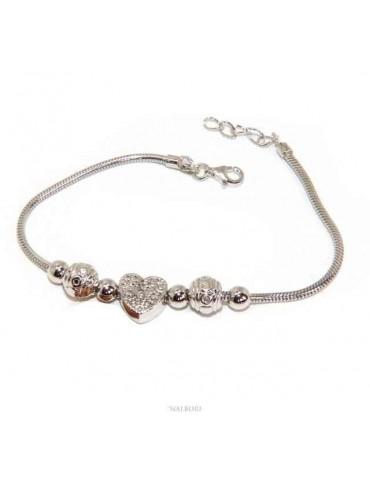 NALBORI Snake woman bracelet Silver 925 charm star heart cloverleaf
