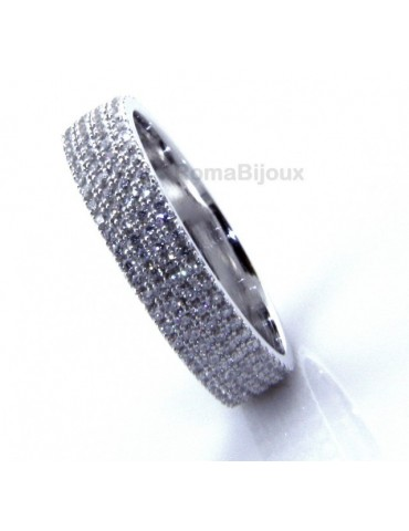 Eternity record everything around with 3 rows zircons microsetting brilliant