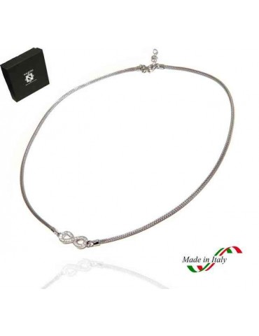 NALBORI necklace 925 silver infinite zircon fox tail