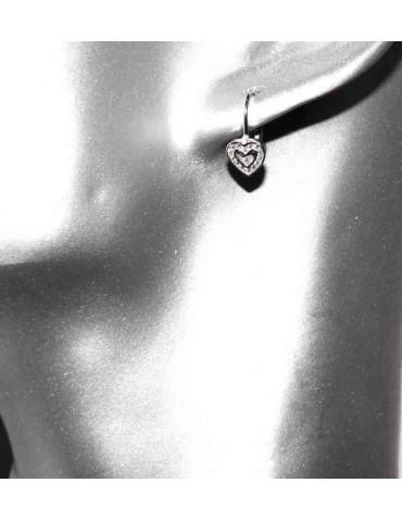 Small heart shaped 925 silver earrings