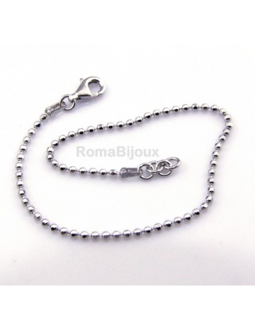 SILVER 925: Choker necklace or bracelet dots balls balls balls diamond various lengths from 2.0 mm