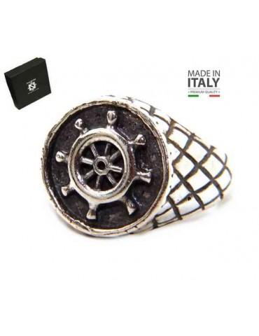 NALBORI Ring Silver 925 chevalier shield adjustable helm