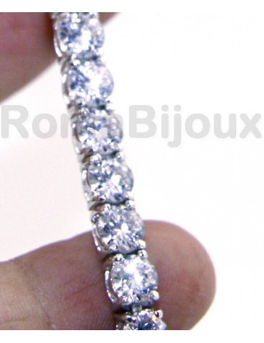 925: Tennis Bracelet With Zircon white 5 mm to 18 cm jaws