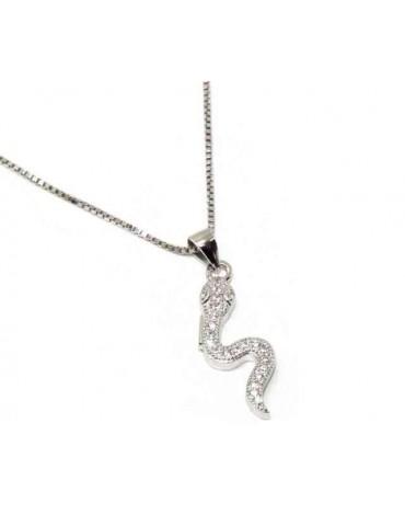 NALBORI 925 silver necklace with snake