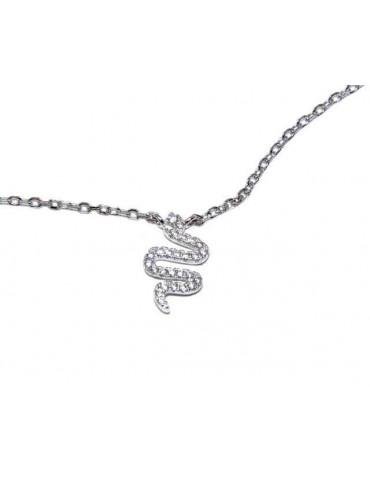 NALBORI collana forzatina argento 925 con centrale serpente