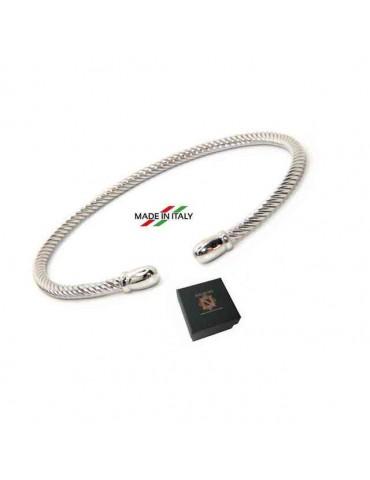 NALBORI Cable bracciale cavetto rigido aperto con pomellino