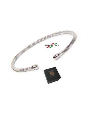 NALBORI cable 925 silver bracelet open cable ball