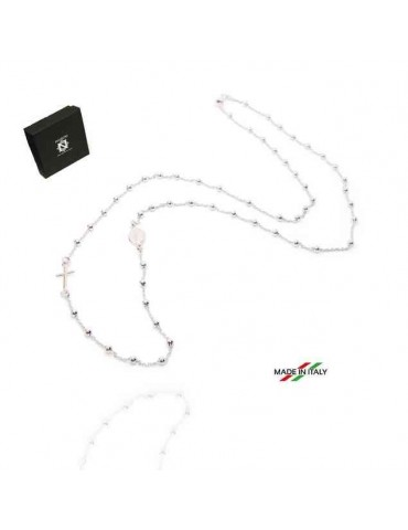 Rosary necklace in 925...
