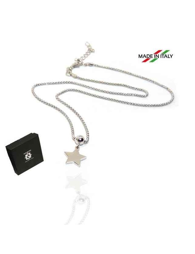NALBORI 925 silver woman popcorn necklace with star pendant