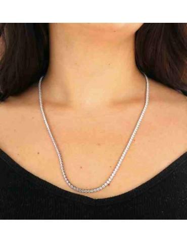 Romabijoux | collana tennis argento 925 con zirconi lunga