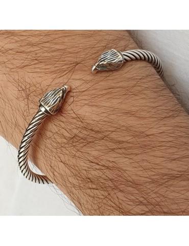Cable bracciale aperto argento 925 con aquila N1403 NALBORI
