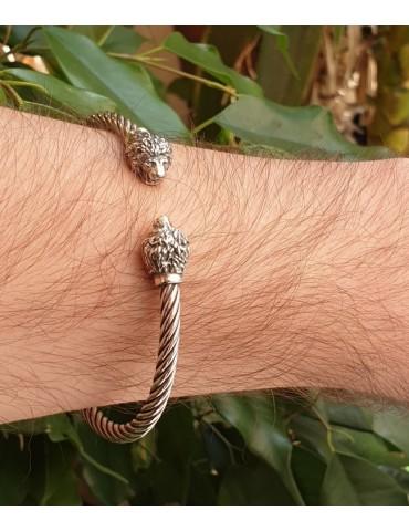 Cable di NALBORI bracciale argento 925 leone