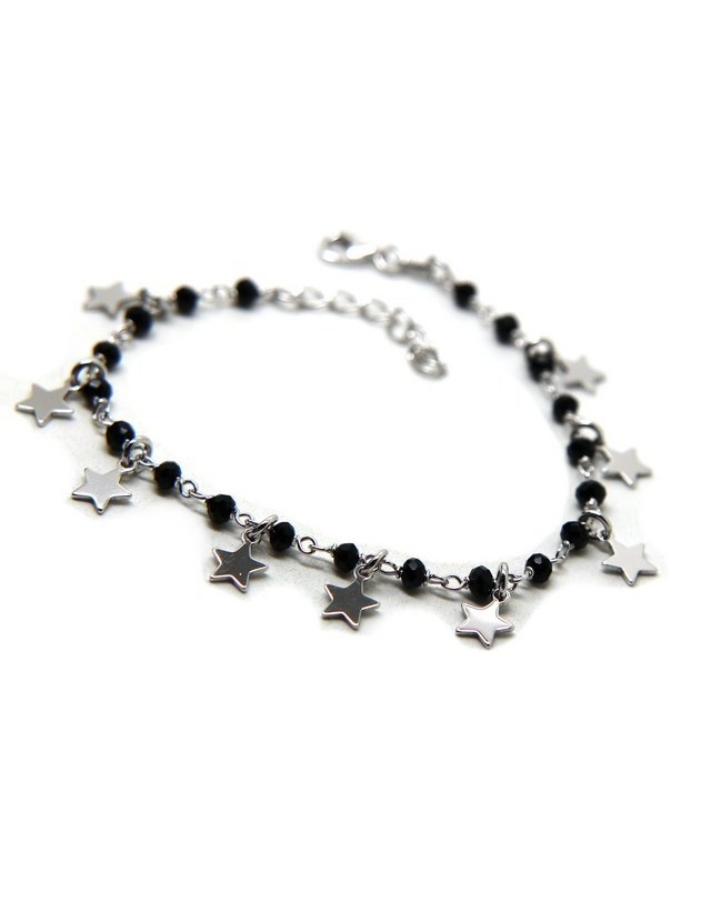925 Sterling Silver women's bracelet with small stars shaped pendants