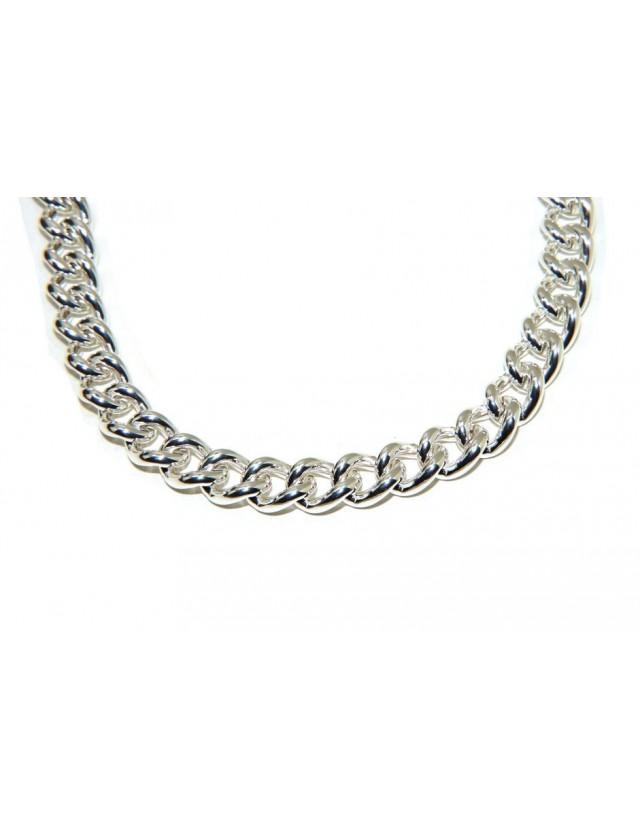 NALBORI 925 silver necklace or bracelet 12.5 mm large curb