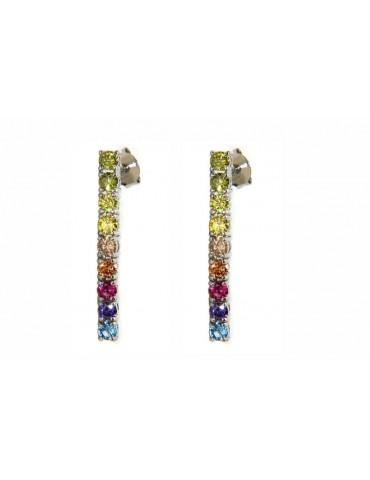 NALBORI 925 silver tennis zircons earrings