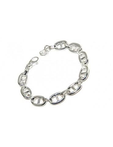 NALBORI Necklace or bracelet marine link 10x16 mm in 925 silver