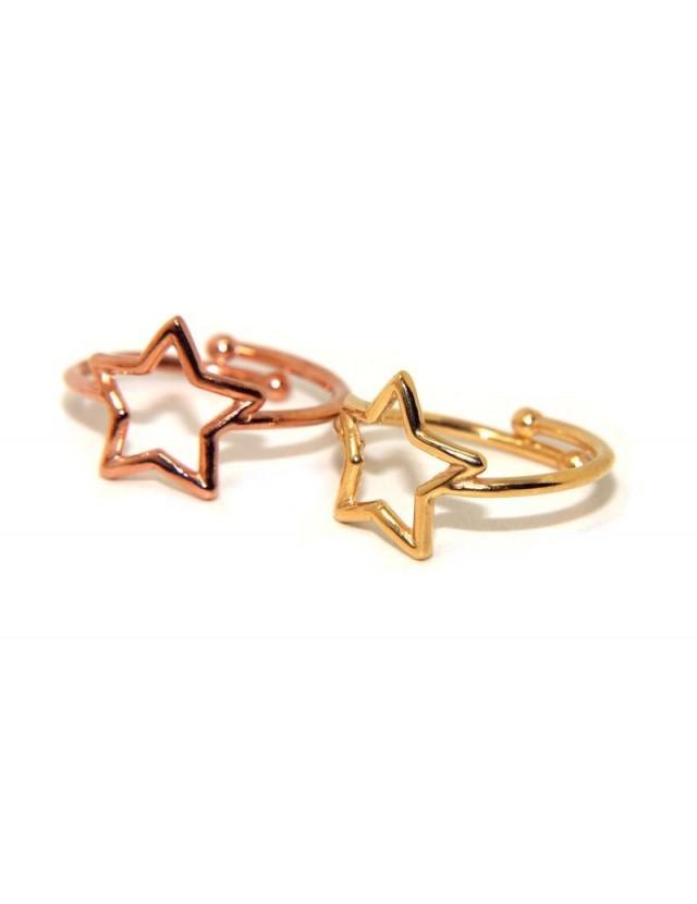 NALBORI Ring Silver 925 open adjustable star