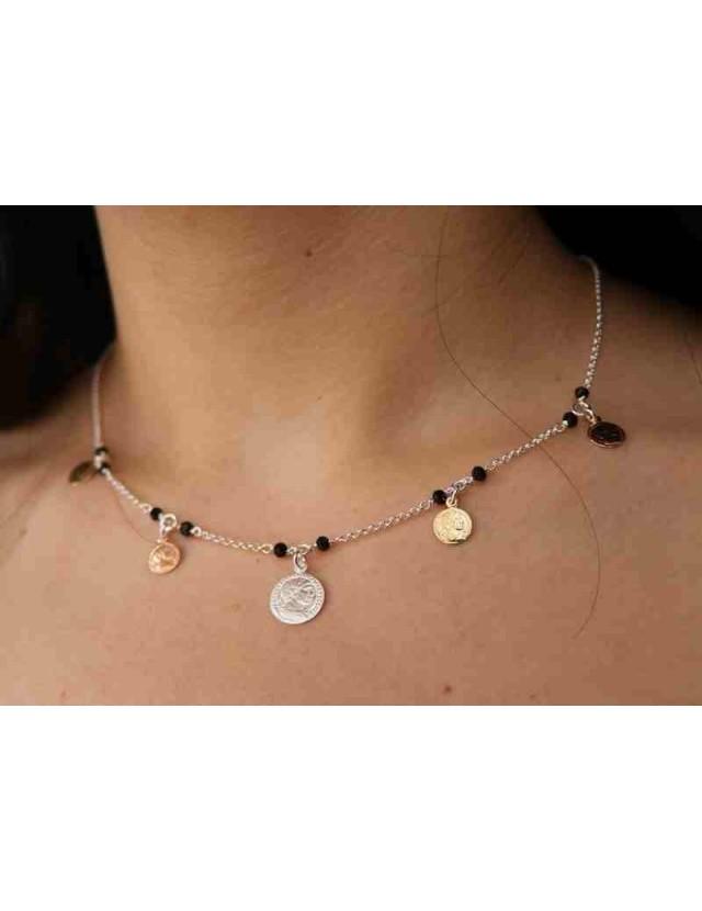 NALBORI Necklace 925 silver coins 3 colors