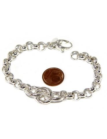silver 925: Women Bracelet rolo 'with oval woven stripes