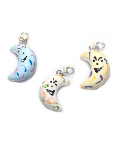 Charm pendant for 925 silver enamel moon bracelets for women and girls
