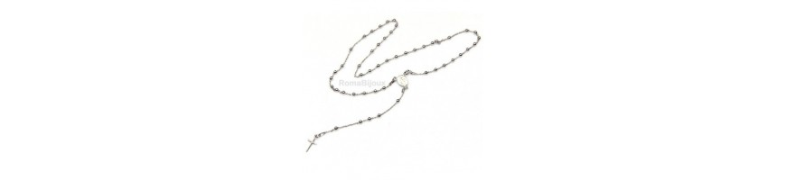 Catégorie Communion Confirmation (Catholic) - RomaBijoux : Rosary bracelet man or woman in 925 sterling silver pendant with i...